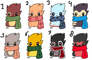 Scarfblobs adopts 30 each by Pinkey-poptard