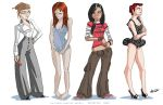 girl sketches by ReevolveR