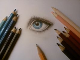 Eye Drawing by 1MeGaN