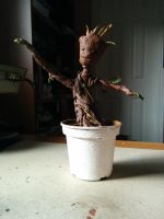 Baby Groot Sculpture by ZoraCatone