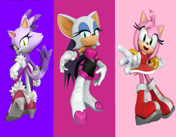 Blaze,Rouge and Amy by princesszelda224