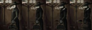 Step by step: Plague Doctor by KevinYann