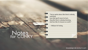 Notes for CONKY by blooDesign