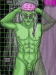 Technus 2.0 taking a shower (improved picture) by QueerSheepiGrim