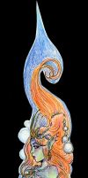 mermaid bookmark by LadyDeddelit