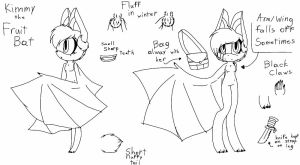 Kimmy the Fruit Bat by PastelReality