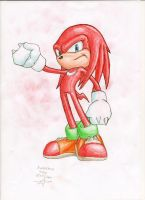 Knuckles colored by InvincibleSoul