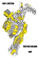 Bumblebee in Vector colour WIP by Jezzy-Fezzy