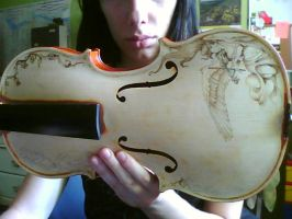 Violin, work in progress by Schnab