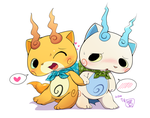 Komajiro and Komasan by kMart0614
