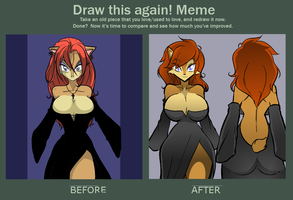 Before and After: Sally's Dress by Hayakain
