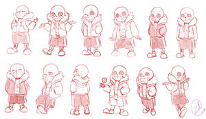 Undertale- Sans everywhere by zeldaprincessgirl100