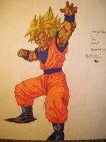 Son Goku with Marker by LCMorganTDA