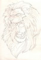 Lion Sketch by joebananaz
