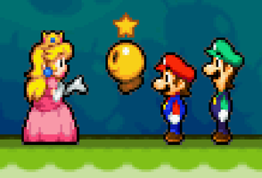 Mario,Luigi,Peach And Starlow by PuccadomiNyo