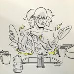 Flash Doing Dishes - Boston Comic Con 2015 by BillWalko