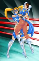 R. Mika vs. Chun-Li by Shayeragal