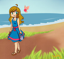 A Walk Near the Shore by DreaDrew