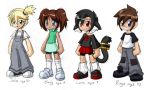 Julie Emily Lara and Rings as Kids by rongs1234