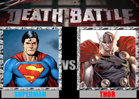 DEATH BATTLE #23: Superman VS Thor by totalgymvssonic