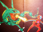Rayquaza vs. Deoxys by ToaAntan