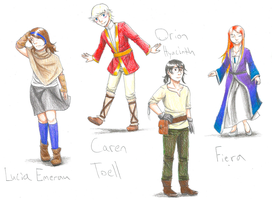 Cast of my Story thing by Hidden-Falls-Girl