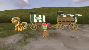 (DL)(SFM) Apple Pie Cart by Dracagon