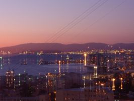 Sunset over Gibraltar by Shimerao-Alkardi