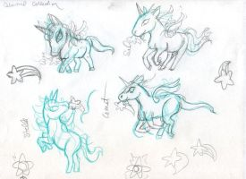Celestial Collection Sketches by Starrydance