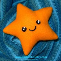 Orange Star Plushie by The-Cute-Storm