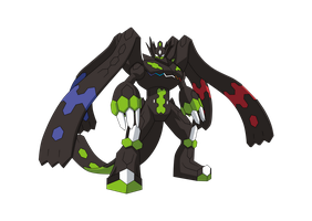 Zygarde 100% (Anime Style) by Alexalan