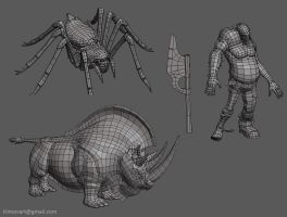 MMO monsters set3 by jips3d