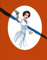 Princess Leia rough coloring by ChristyTortland