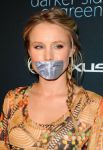 Kristen Bell duct tape gagged by ikell