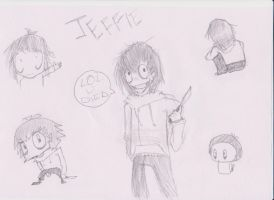 Jeff le killer doodles by 4Got10PPrKuts