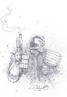 Dredd sketching 2 by FlowComa