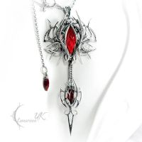 URRGHARN - silver, red quartz and garnets by LUNARIEEN
