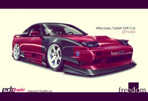 Nissan 180sx Turkish Drift Car by edcgraphic