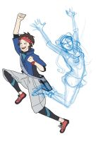 WIP: Pokemon Trainers Nate and Rosa by Kendra-candraw