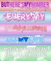 +Pack #03 Textos PNG by Imstuckinwonderland