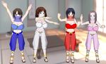 Mama to Boku Girls Belly Dancers by quamp