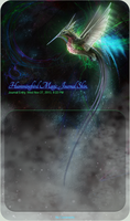 Hummingbird Magic Journal Skin. by HeatherSchoff