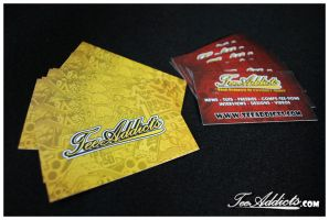 Tee Addicts Business Cards 2 by motion-attack