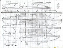Lance Class Paper Drawing by kaisernathan1701