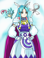 Commission: Mary the Water Adept from Golden Sun by Cellshadfan
