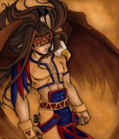 Silva with Eagle: The Z Collab by wolfen
