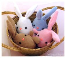 Basket of Easter Bunnies by csgirl