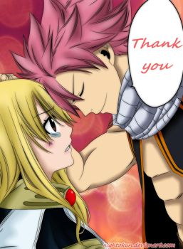 Natsu and Lucy Fairy Tail Chapter 317 by Nightokun