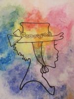 Watercolour Silhouette by Samii-Doll