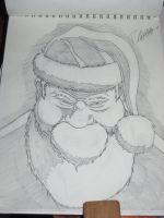 Bad Santa Sketch by HolmzMcJonz777